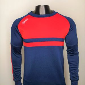 Crew Neck Jumper – Navy and Red