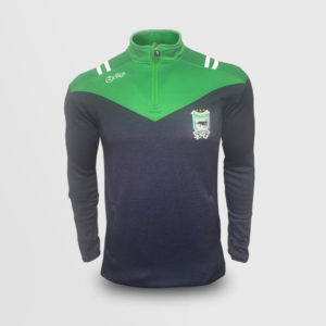 Half Zip – Melange Navy/ Green (Sean Mac Cumhaills)