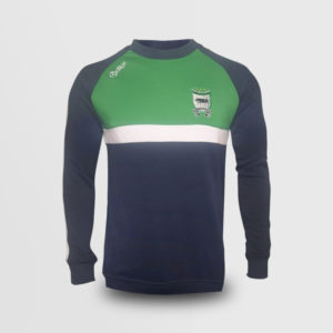 Crew Neck Jumper- Navy/Green (Sean Mac Cumhaills)