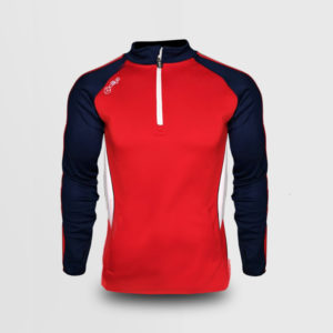 Half Zip – Red/Navy