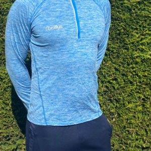 Blue Melange – Lightweight Half Zip