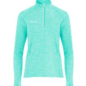 Turquoise Melange – Lightweight Half Zip