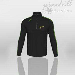 Pinehill Melange Black Half Zip