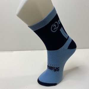 Mid Length Socks – Navy/Sky Blue