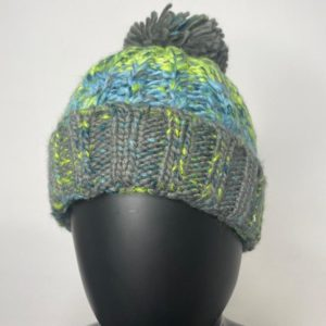 Ladies Braided Beanie – Green