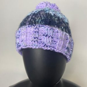 Ladies Braided Beanie – Purple