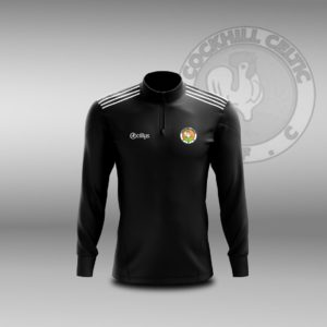 Cockhill Celtic F.C. – Lightweight Half Zip Black Melange